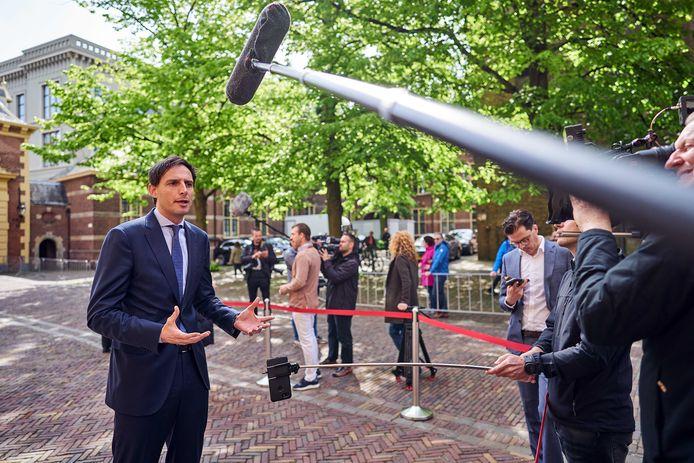 CDA-leider Wopke Hoekstra op het Binnenhof.