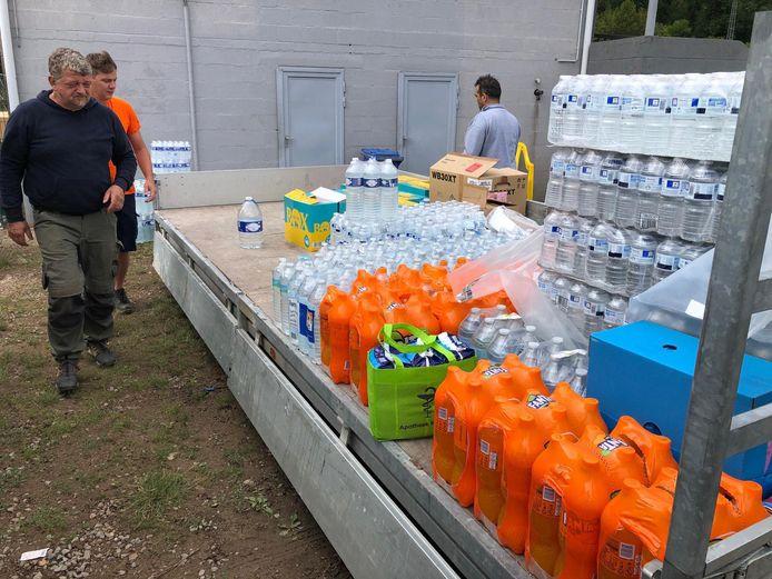 De vrijwilligers hebben verschillende bewoners daar geholpen.