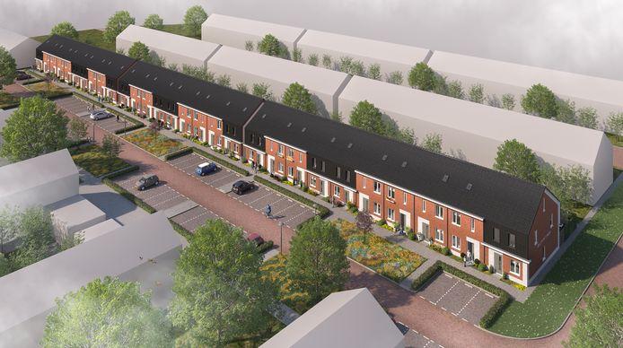 Er komen 29 sociale huurwoningen in de wijk.