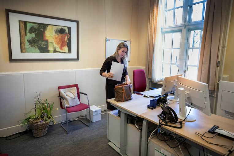 Femke Merel van Kooten van Splinter pakt haar biezen. Voor haar volgt geen tweede termijn als Kamerlid.   Beeld Werry Crone