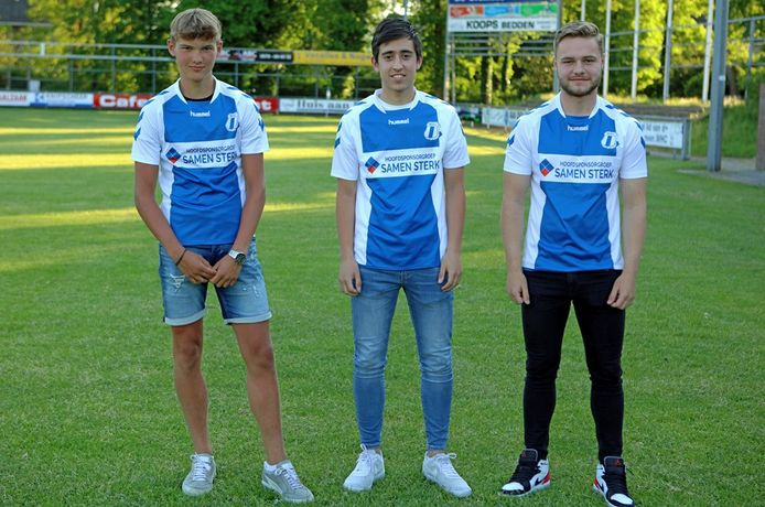 De drie Wezepers die een plaats krijgen in de selectie van WHC (vlnr): Sylvain Vierhuizen, Dennis Akar en Dinand Burgmeijer.
