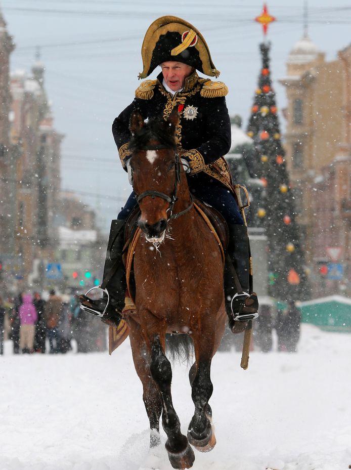 Oleg Sokolov verkleed als Napoleon