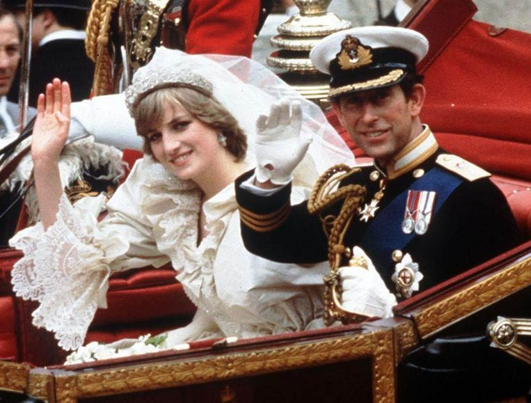 Het huwelijk van Charles en Diana in 1981.