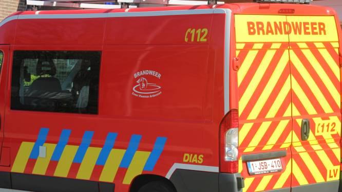 Brandweer ruimt oliespoor in centrum van Sint-Lievens-Houtem