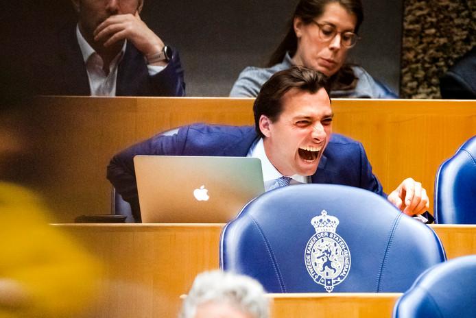Partijleider Thierry Baudet van Forum voor Democratie geniet minder steun onder zijn kiezers na al het geruzie met Henk Otten.