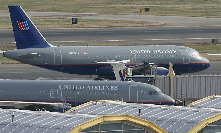 United Airlines vervoerde vorig jaar wereldwijd 138 miljoen passagiers. Beeld AFP