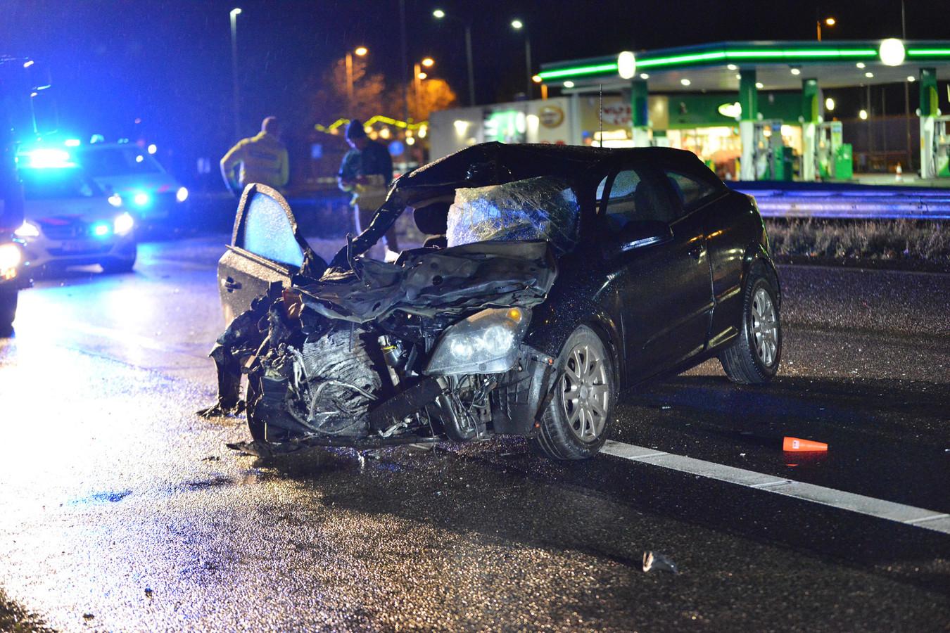 De ravage vlak na het ongeval op 14 december 2019.