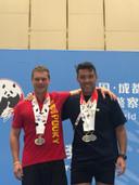 Garry Van Serveyt haalde goud en zilver bij indoor roeien, zijn maat Eric Stappers twee keer zilver.