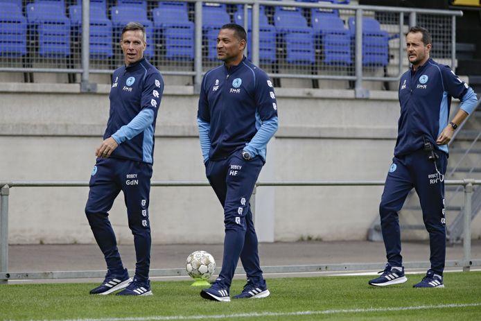 GéŽrard de Nooijer (links) met Sparta-trainer Henk Fraser.