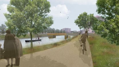 Fiets-en voetgangersbrug over Leie pas klaar in mei 2021