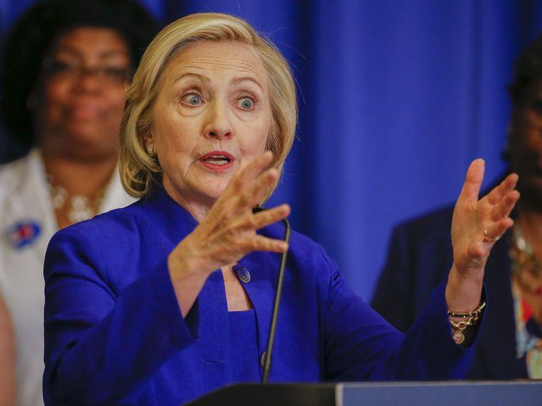 Hillary Clinton op campagne Beeld epa
