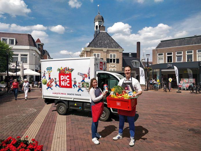 Onlinesupermarkt Picnic komt naar Almelo. Vanaf eind mei zijn boodschappen te bestellen, net als in Enschede en Hengelo.
