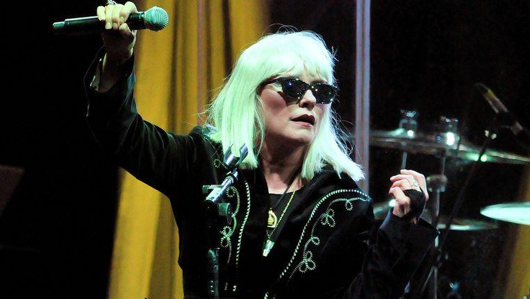 Zangeres Debbie Harry van Blondie, gisteren in Londen. Beeld getty