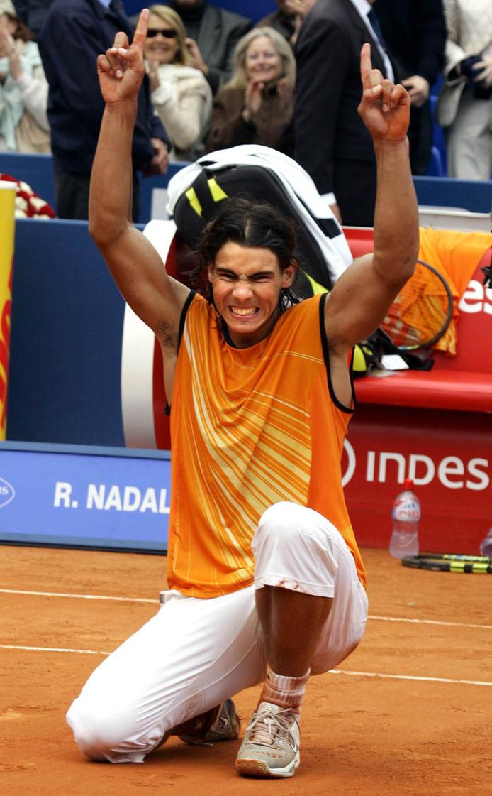 Rafael Nadal, zoals de tenniswereld kennis met hem maakte.