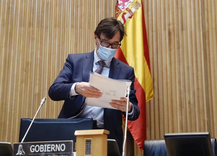 De Spaanse minister van Gezondheid Salvador Illa.