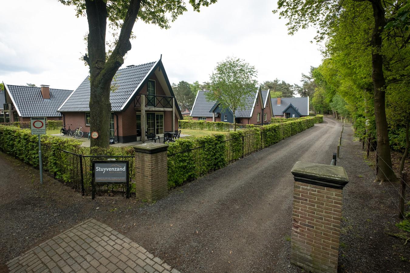 Het voormalige vakantiepark aan de Berkenweg in Doornspijk, waar nu arbeidsmigranten zijn gehuisvest.