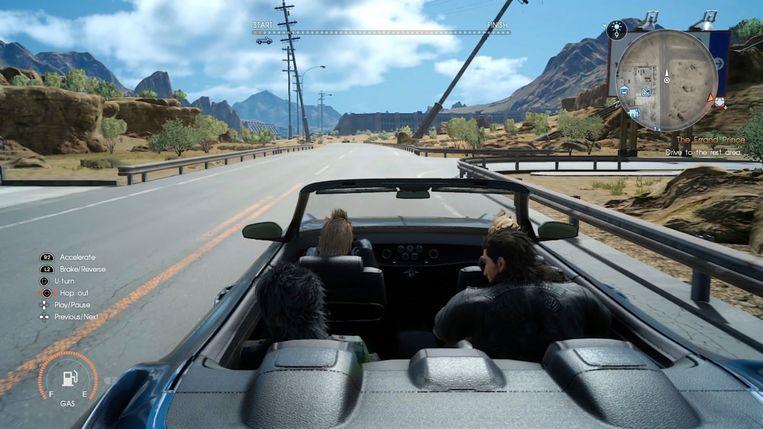 Een beeld uit 'Final Fantasy XV'. Beeld AP