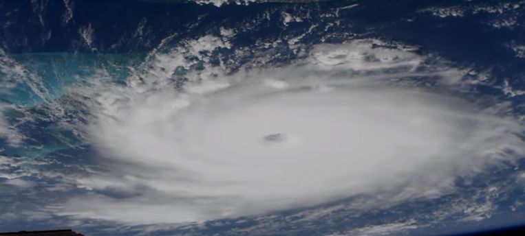 Orkaan Dorian op een beeld van NASA. Beeld EPA