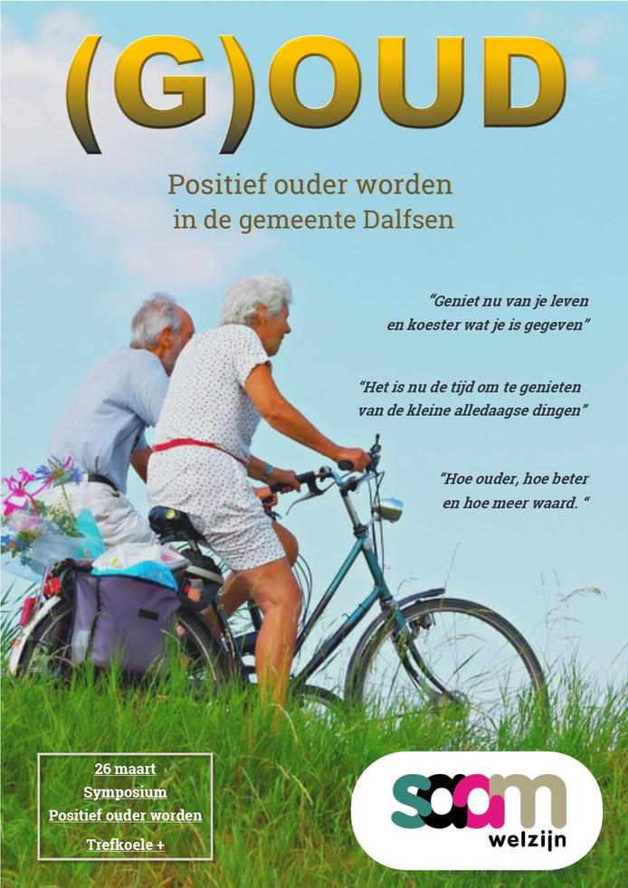 De omslag van de glossy '(G)OUD' die alle zeventig-plussers in de gemeente Dalfsen in de bus krijgen.