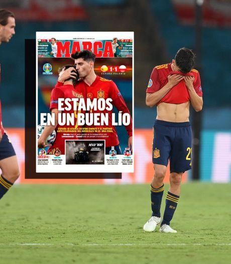 Spaanse media niet mals na nieuwe uitglijder La Roja: 'Het is Code Rood!'