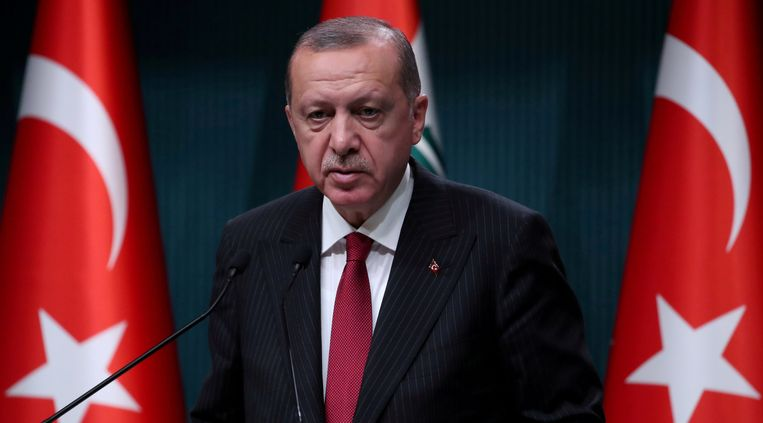De Turkse president Recep Tayyip Erdogan.  Beeld Thomson Reuters