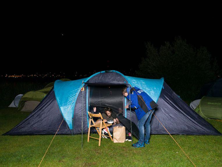 Camping Zeeburg. Beeld Ivo van der Bent