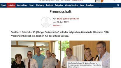 Delegatie uit Zillebeke haalt Duitse krant bij bezoek aan zusterstad Seelbach