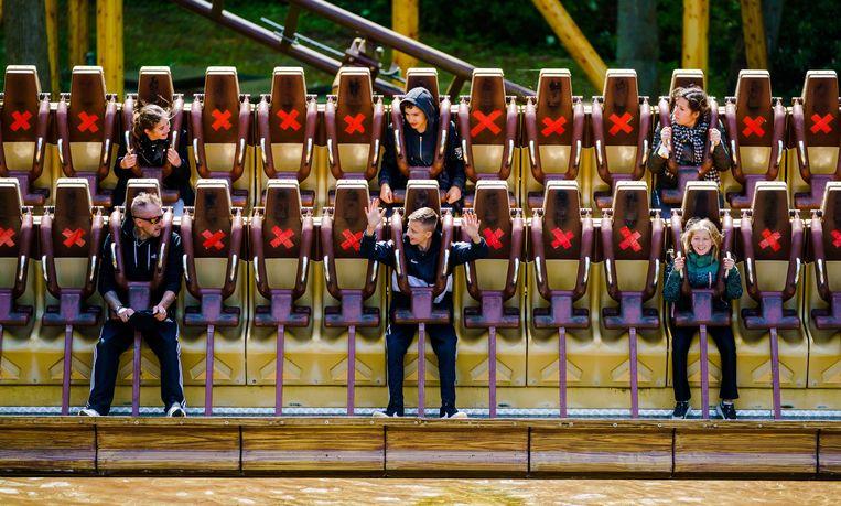 Attractiepark Duinrell in Wassenaar is weer open – nog wel met coronarestricties.   Beeld ANP