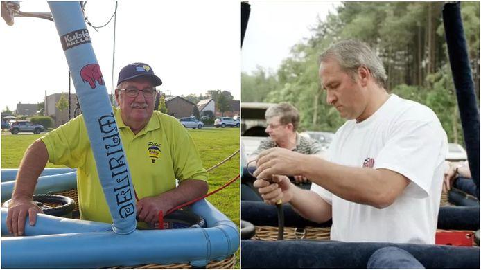 Luc Madou (links) rouwt om zijn collega-ballonvaarder Wim Verstraeten.