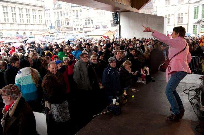 Ambiance op de Gentse nieuwjaarsdrink vorig jaar.