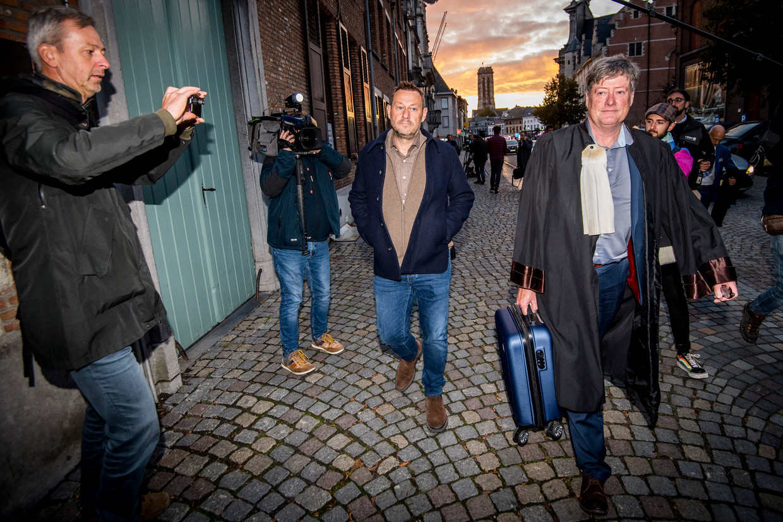 Bart De Pauw na de zitting van de rechtbank in Mechelen.