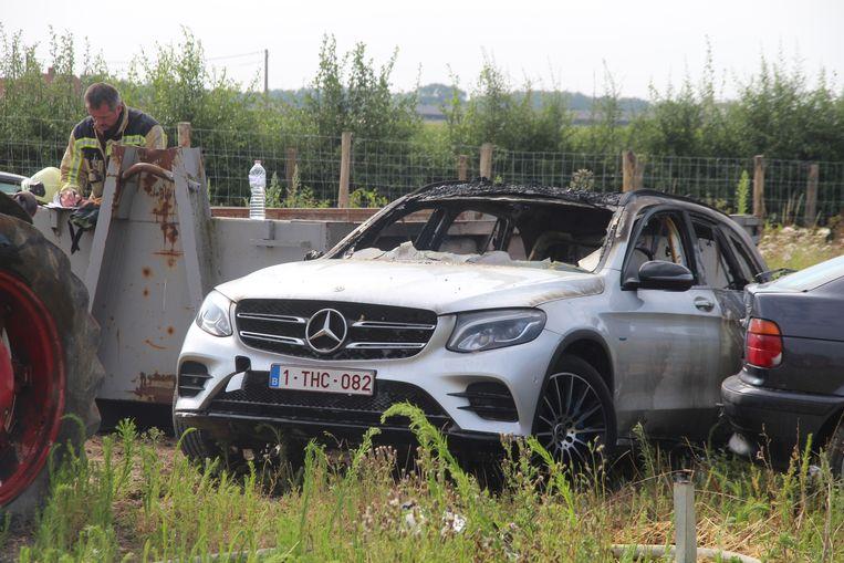 Elektrische auto uitgebrand