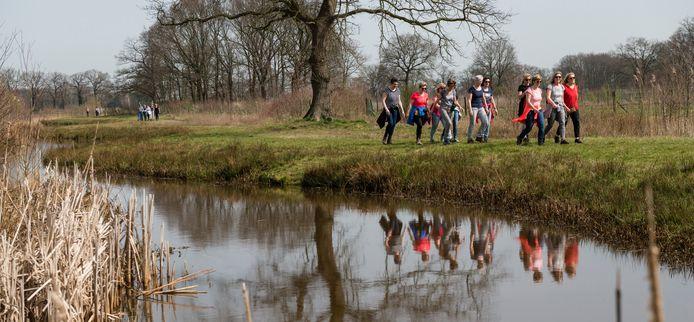 Wandelen in het buitengebied van Tubbergen.