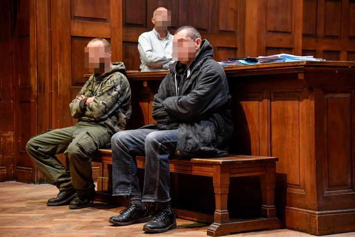 De beklaagden Yves H. (links) en Jurgen R. tijdens een eerder proces.