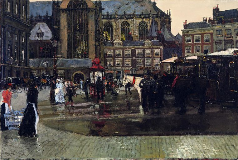 George Hendrik Breitner, De Dam (De Nieuwe Kerk in Amsterdam), 1891. Beeld Singer Museum Laren
