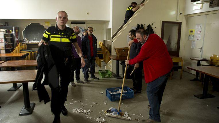 De moskee in Dordrecht werd eind juni aangevallen Beeld anp