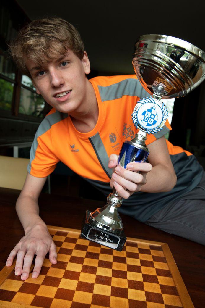 Simon Harmsma, onlangs Nederlands kampioen bij de aspiranten.