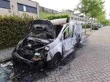 Opnieuw een autobrand in Eindhoven: ditmaal een bestelbusje