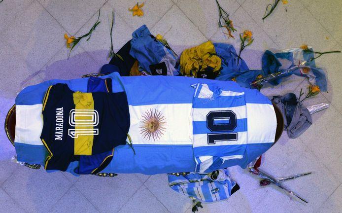 De kist van Maradona.