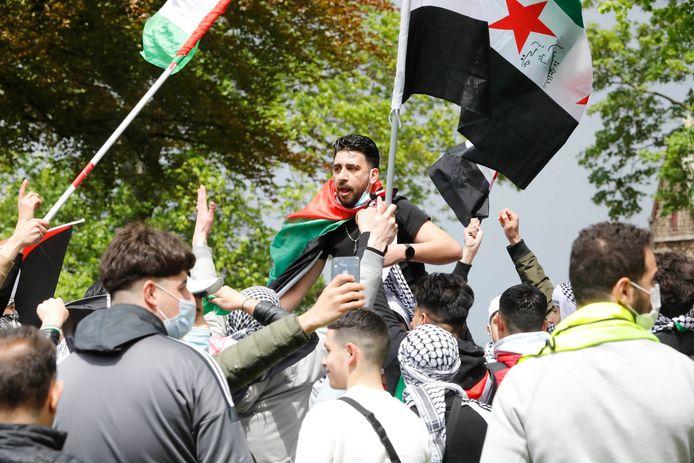 Pro-Palestina-demonstratie in het Valkhofpark.
