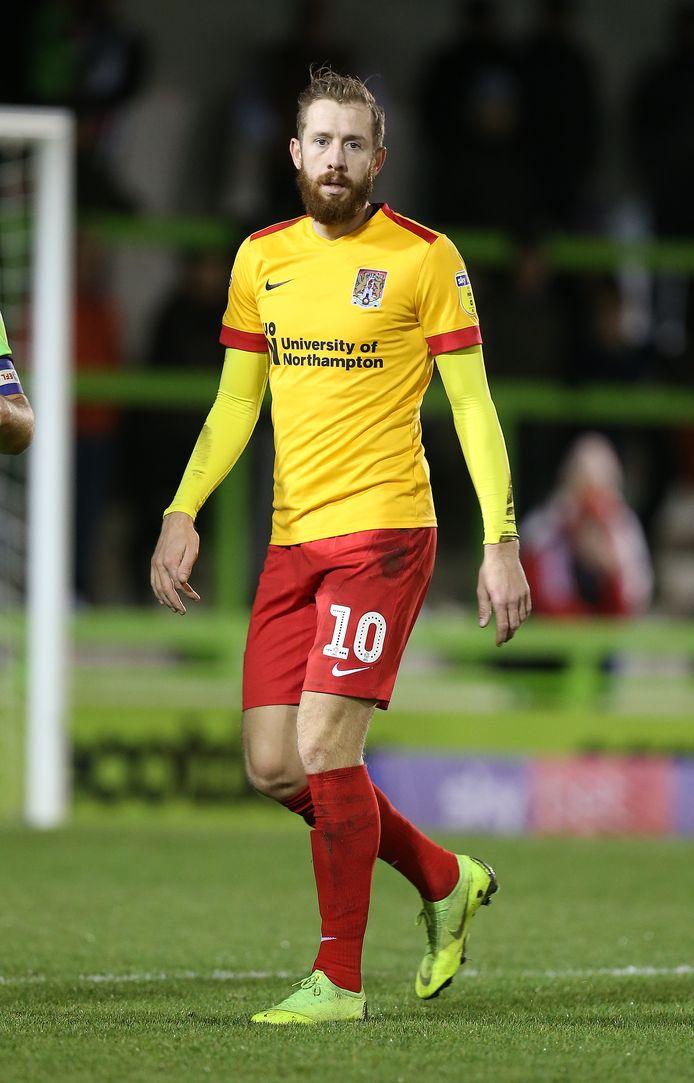 Kevin van Veen nog in actie namens Northhampton Town. Nu keert hij terug naar Scunthorpe United.