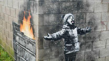"""Banksy op garagemuur verkocht voor """"bedrag van zes cijfers"""""""