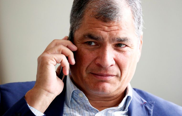 Rafael Correa, de oud-president van Ecuador. Beeld REUTERS