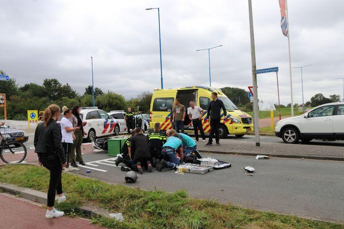De scooterrijder werd vorige week aangereden in Zoetermeer.