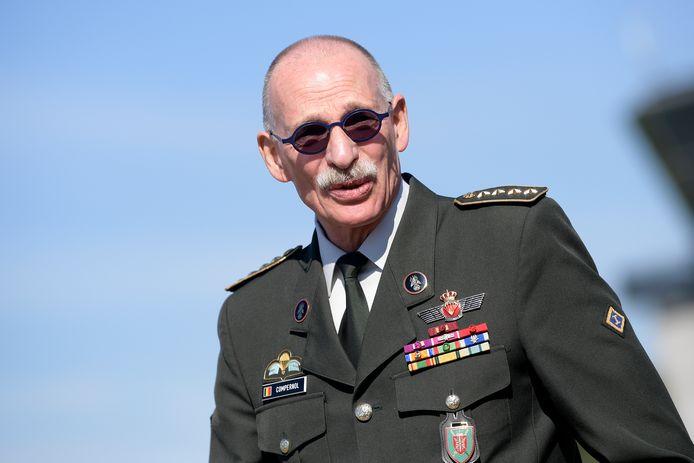Compernol diende 48 jaar in het leger: drie daarvan als kadet en 45  jaar als militair.