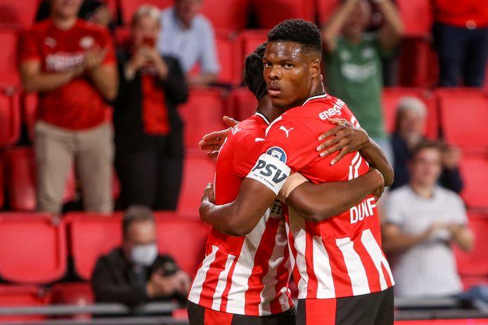 Denzel Dumfries, de aanvoerder van PSV.