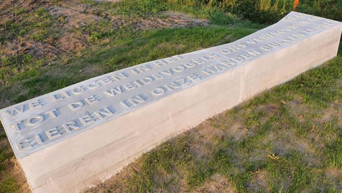 Dichtregels markeren route oude Veldhovensedijk Riethoven