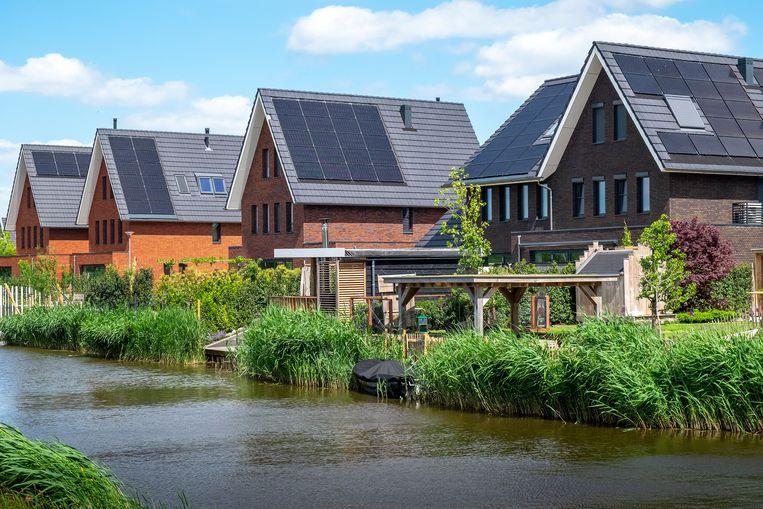 Zestienhoven is een nieuwe duurzame en circulaire stadswijk in het noorden van Rotterdam. Beeld Hans van Rhoon, Hollandse Hoogte