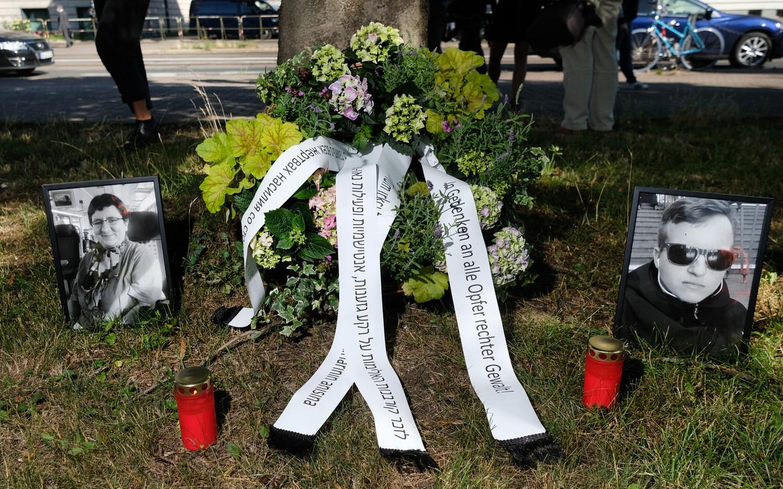 De twee slachtoffers van de aanslag in Halle Beeld BELGAIMAGE