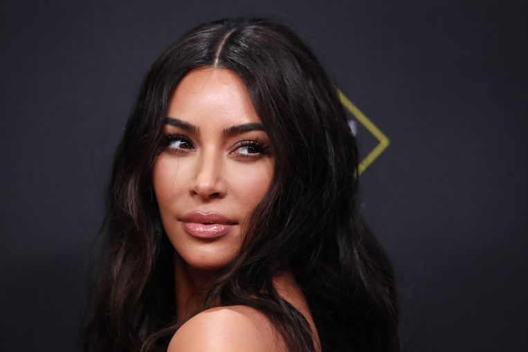 Kim Kardashian op de rode loper van de People's Choice Awards eerder dit jaar. Beeld EPA